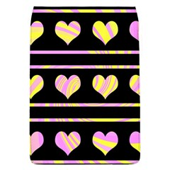 Pink and yellow harts pattern Flap Covers (L)