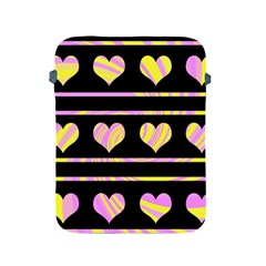 Pink and yellow harts pattern Apple iPad 2/3/4 Protective Soft Cases