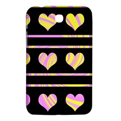 Pink and yellow harts pattern Samsung Galaxy Tab 3 (7 ) P3200 Hardshell Case