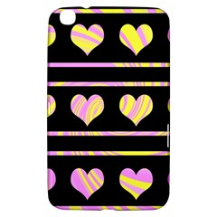 Pink and yellow harts pattern Samsung Galaxy Tab 3 (8 ) T3100 Hardshell Case