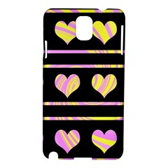 Pink and yellow harts pattern Samsung Galaxy Note 3 N9005 Hardshell Case