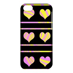 Pink and yellow harts pattern Apple iPhone 5C Hardshell Case