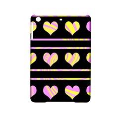 Pink and yellow harts pattern iPad Mini 2 Hardshell Cases