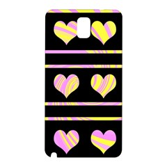 Pink and yellow harts pattern Samsung Galaxy Note 3 N9005 Hardshell Back Case