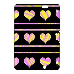 Pink and yellow harts pattern Kindle Fire HDX 8.9  Hardshell Case