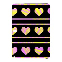 Pink and yellow harts pattern Samsung Galaxy Tab Pro 10.1 Hardshell Case