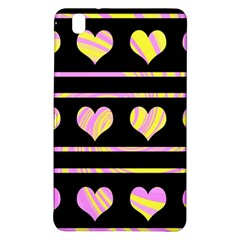 Pink and yellow harts pattern Samsung Galaxy Tab Pro 8.4 Hardshell Case