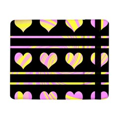 Pink and yellow harts pattern Samsung Galaxy Tab Pro 8.4  Flip Case