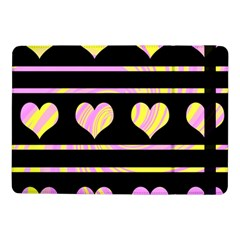 Pink and yellow harts pattern Samsung Galaxy Tab Pro 10.1  Flip Case