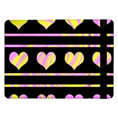 Pink and yellow harts pattern Samsung Galaxy Tab Pro 12.2  Flip Case