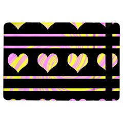Pink and yellow harts pattern iPad Air Flip