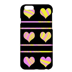 Pink and yellow harts pattern Apple iPhone 6 Plus/6S Plus Hardshell Case