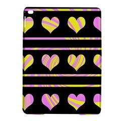 Pink and yellow harts pattern iPad Air 2 Hardshell Cases