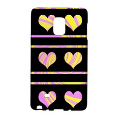 Pink and yellow harts pattern Galaxy Note Edge