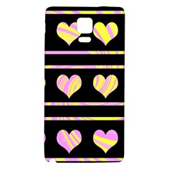Pink and yellow harts pattern Galaxy Note 4 Back Case