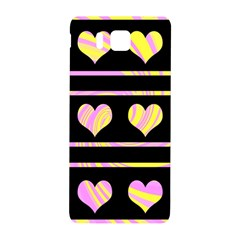 Pink and yellow harts pattern Samsung Galaxy Alpha Hardshell Back Case