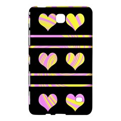 Pink and yellow harts pattern Samsung Galaxy Tab 4 (8 ) Hardshell Case