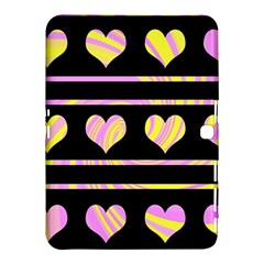 Pink and yellow harts pattern Samsung Galaxy Tab 4 (10.1 ) Hardshell Case