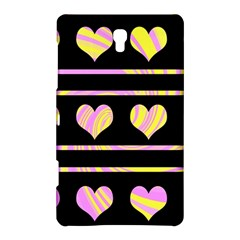 Pink and yellow harts pattern Samsung Galaxy Tab S (8.4 ) Hardshell Case