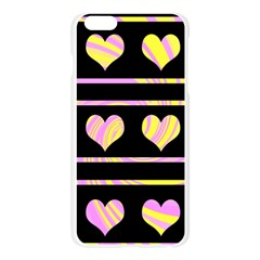 Pink and yellow harts pattern Apple Seamless iPhone 6 Plus/6S Plus Case (Transparent)