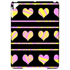 Pink and yellow harts pattern Apple iPad Pro 9.7   Hardshell Case
