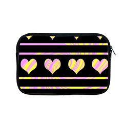 Pink and yellow harts pattern Apple MacBook Pro 13  Zipper Case
