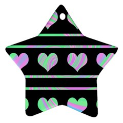 Pastel harts pattern Ornament (Star)