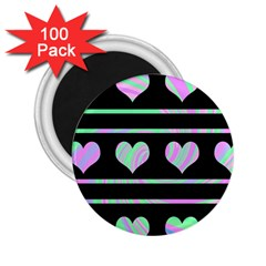 Pastel harts pattern 2.25  Magnets (100 pack)