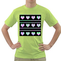 Pastel harts pattern Green T-Shirt