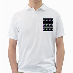 Pastel harts pattern Golf Shirts