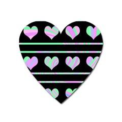 Pastel harts pattern Heart Magnet