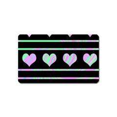 Pastel harts pattern Magnet (Name Card)