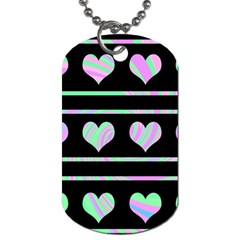 Pastel harts pattern Dog Tag (One Side)