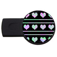 Pastel harts pattern USB Flash Drive Round (2 GB)