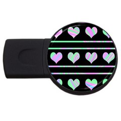 Pastel harts pattern USB Flash Drive Round (1 GB)