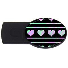 Pastel harts pattern USB Flash Drive Oval (2 GB)