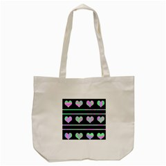 Pastel harts pattern Tote Bag (Cream)
