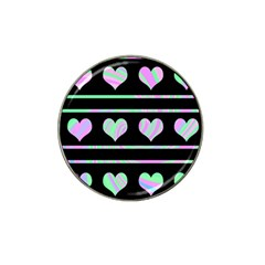 Pastel harts pattern Hat Clip Ball Marker (4 pack)