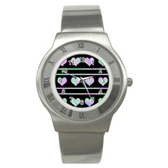 Pastel harts pattern Stainless Steel Watch