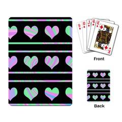 Pastel harts pattern Playing Card