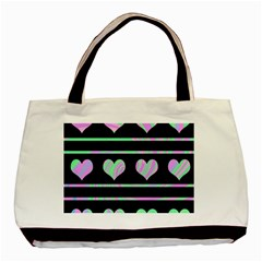 Pastel harts pattern Basic Tote Bag