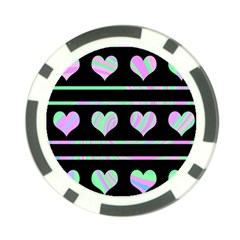 Pastel harts pattern Poker Chip Card Guards