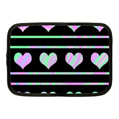 Pastel harts pattern Netbook Case (Medium)