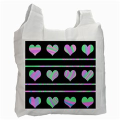 Pastel harts pattern Recycle Bag (One Side)