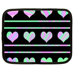 Pastel harts pattern Netbook Case (XL)