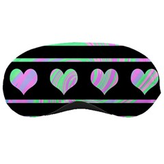 Pastel harts pattern Sleeping Masks