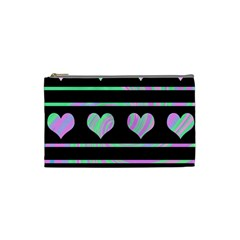 Pastel harts pattern Cosmetic Bag (Small)