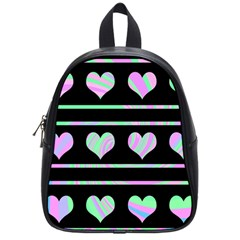 Pastel harts pattern School Bags (Small)