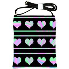 Pastel harts pattern Shoulder Sling Bags