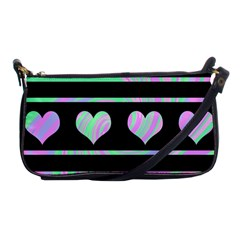 Pastel harts pattern Shoulder Clutch Bags